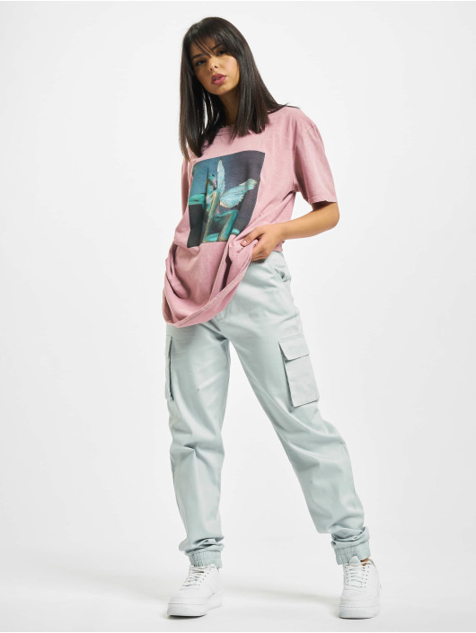 Missguided T-shirt Overdyed Wings Photographic ros