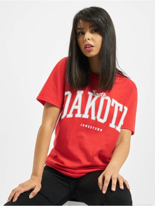 Missguided T-shirt Dakota Graphic Short Sleeve rosso