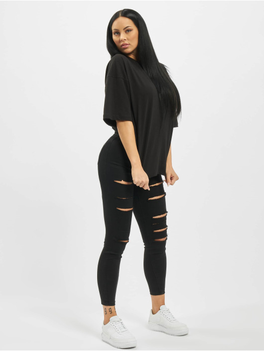 Missguided T-Shirt Drop Shoulder schwarz