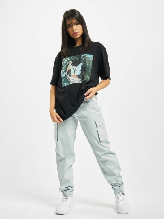 Missguided T-Shirt Butterfly Photographic schwarz