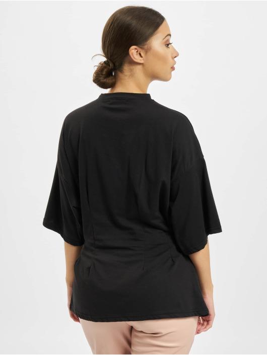 Missguided T-shirt Structured Body Oversize svart