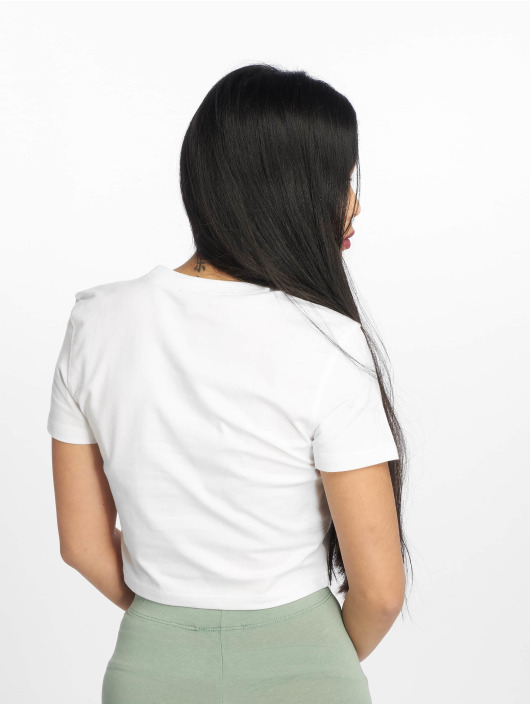 Missguided T-shirt Nakey Nakey Nakey Slogan vit