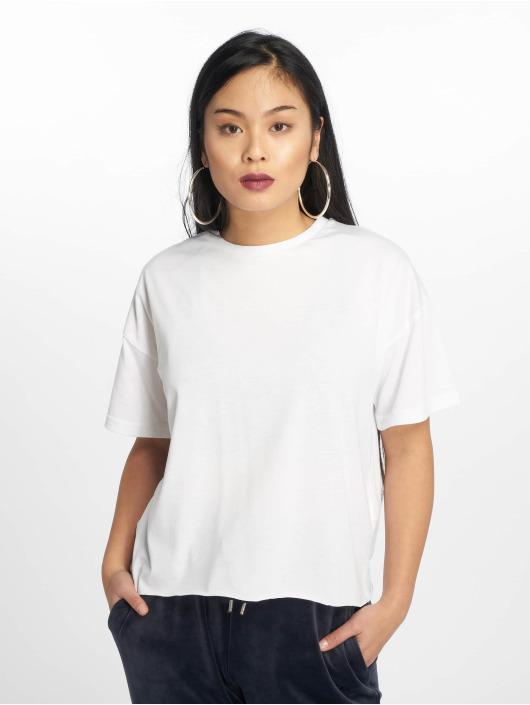 Missguided T-shirt Raw Hem Crew vit
