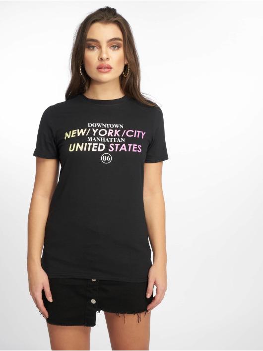 Missguided t-shirt Rainbow State Graphic zwart