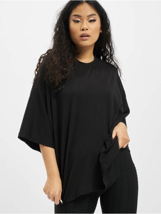 Missguided t-shirt Petite Drop Shoulder zwart
