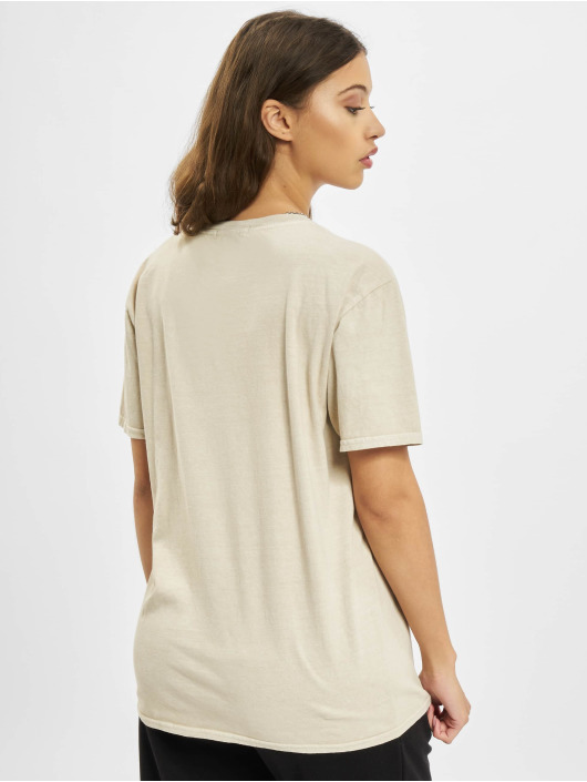 Missguided T-shirts Wisconsin Grapihc Short Sleeve Oversized beige