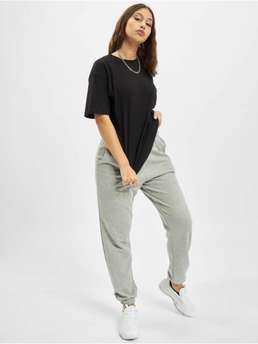 Missguided T-Shirty Drop Shoulder czarny
