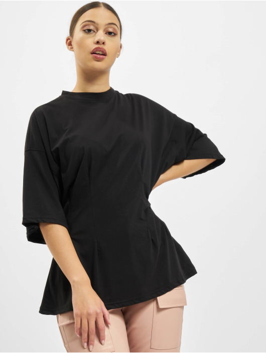 Missguided T-Shirty Structured Body Oversize czarny