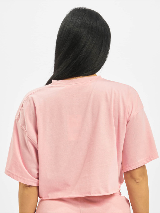 Missguided T-Shirty Playboy Cropped Lounge rózowy
