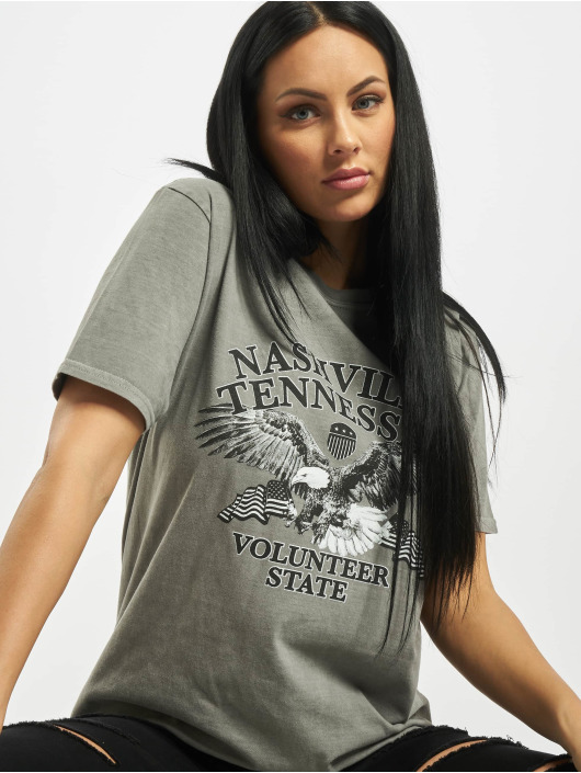 Missguided T-Shirty Nashville Eagle Graphic szary