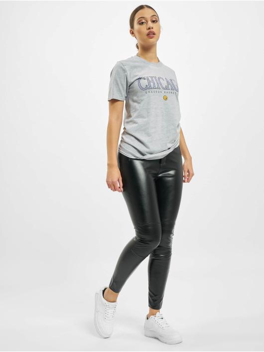 Missguided T-skjorter Chicago Basketball Graphic Short Sleeve grå