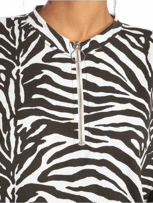 Missguided T-skjorter Oversized LL Zip Front svart