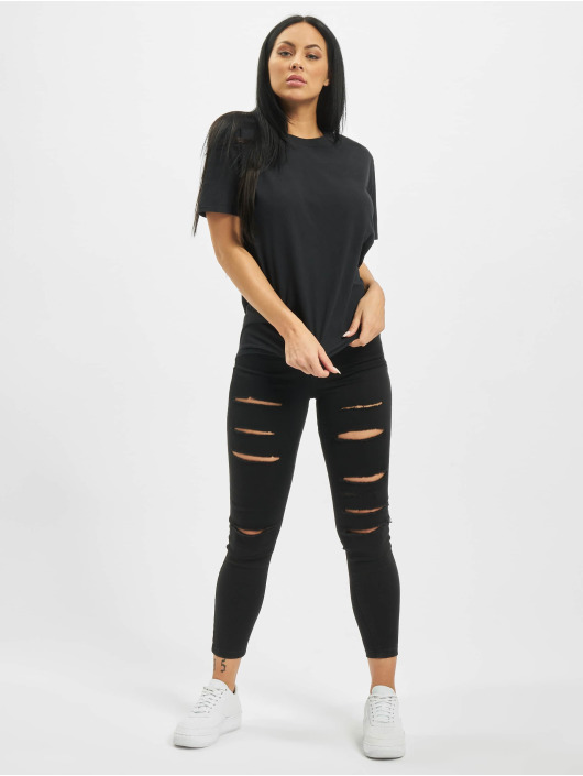 Missguided T-skjorter Lamour Face Washed Back Graphic svart
