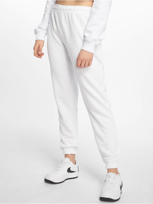 Missguided tepláky White Basic biela