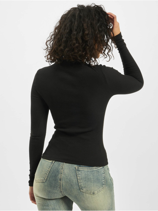 Missguided Top Tall Long Sleeve Crew Neck black