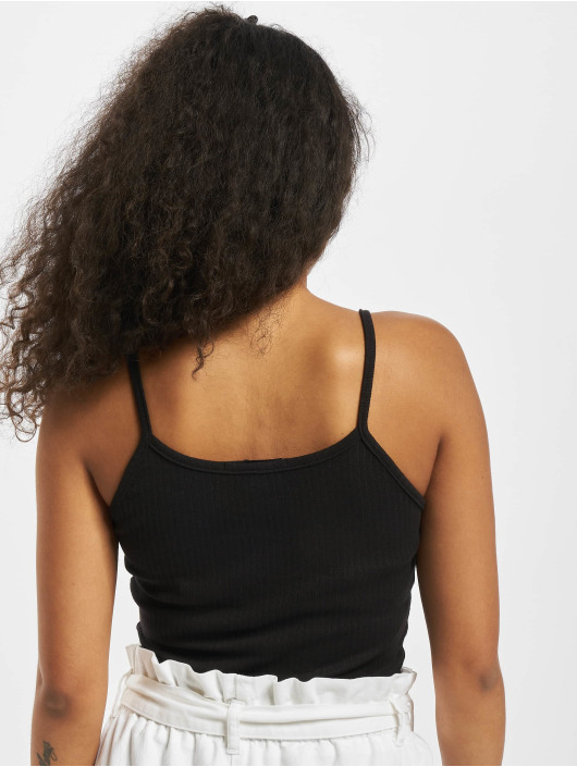 Missguided Top Notch Neck Rib Cami black