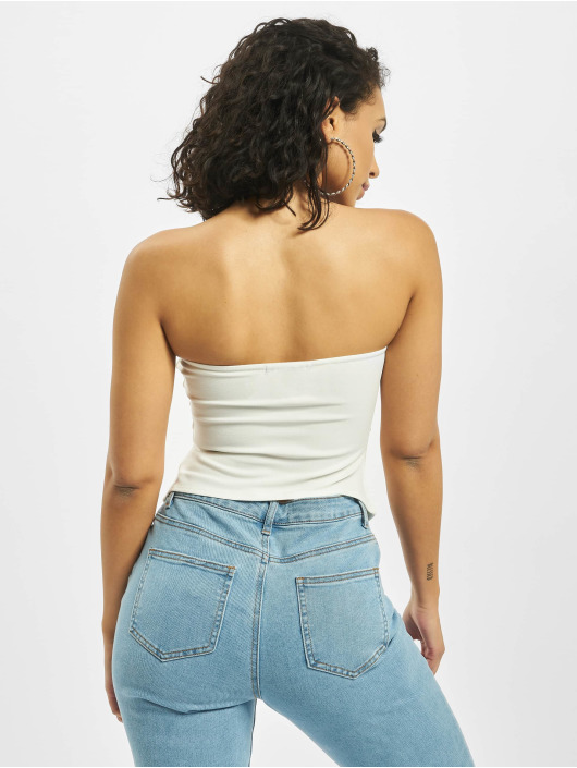 Missguided Top Jersey Bandeau Corset blanco