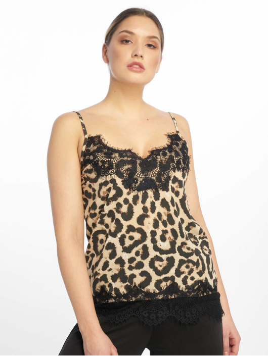 Missguided Top Crepe And Lace Cami brown