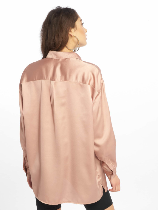 Missguided Top Oversized Satin gold
