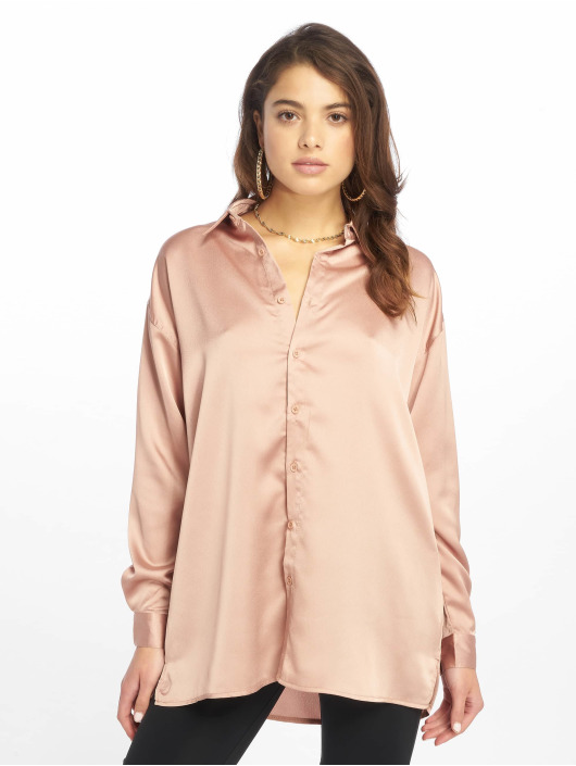 Missguided top Oversized Satin goud