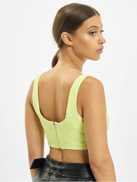 Missguided Top Super Scoop Crop green
