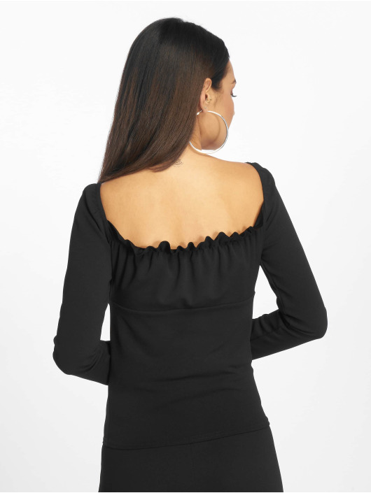 Missguided Top Bardot negro