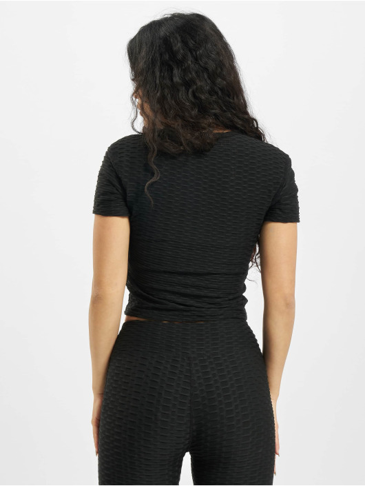 Missguided Top Textured negro