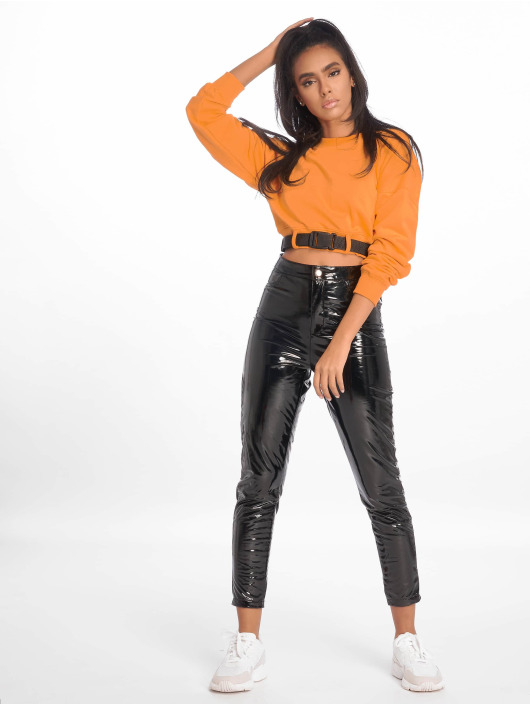 Missguided top Belted Crop Sweat oranje