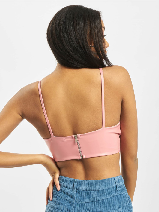 Missguided Top Basic PU rosa