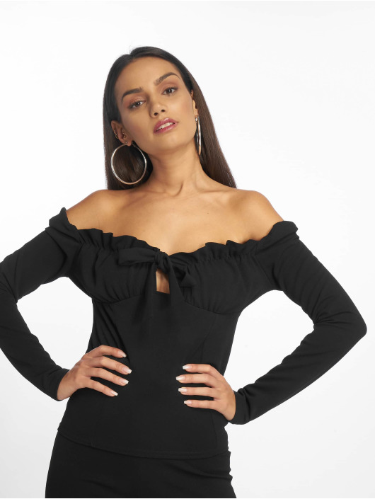 Missguided Top Bardot schwarz