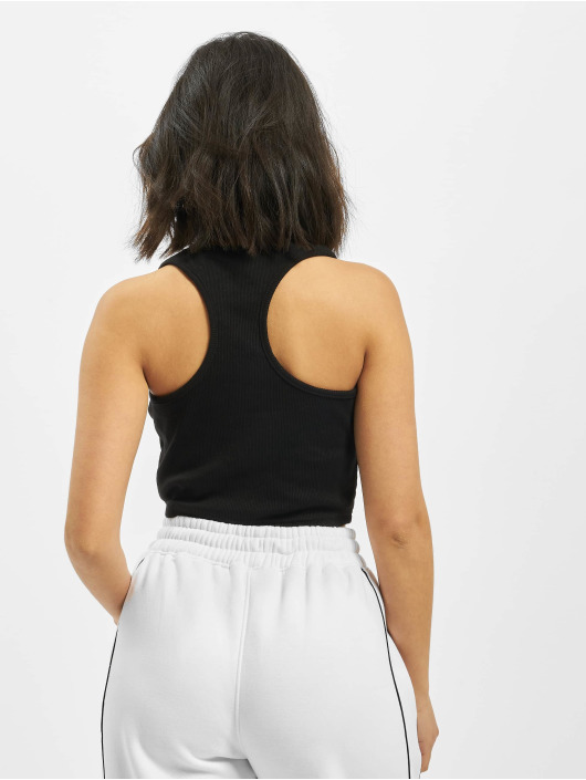 Missguided Top Ribbed Angel schwarz