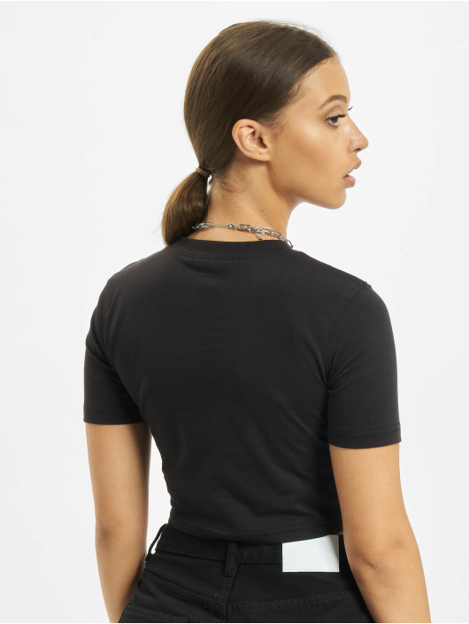 Missguided Top Yummy Graphic schwarz