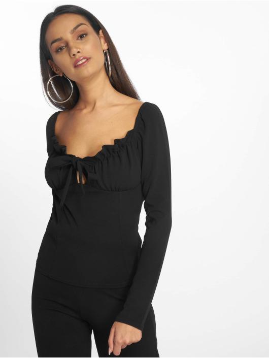 Missguided top Bardot zwart