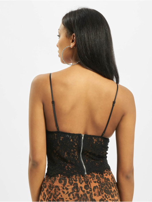 Missguided top Tall Lace zwart