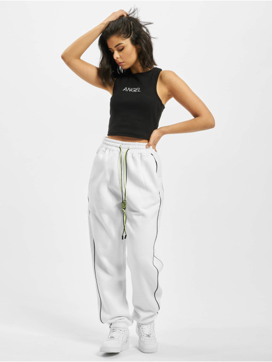 Missguided top Ribbed Angel zwart