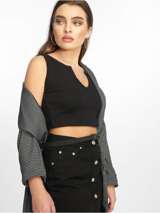 Missguided Tops sans manche Notch noir
