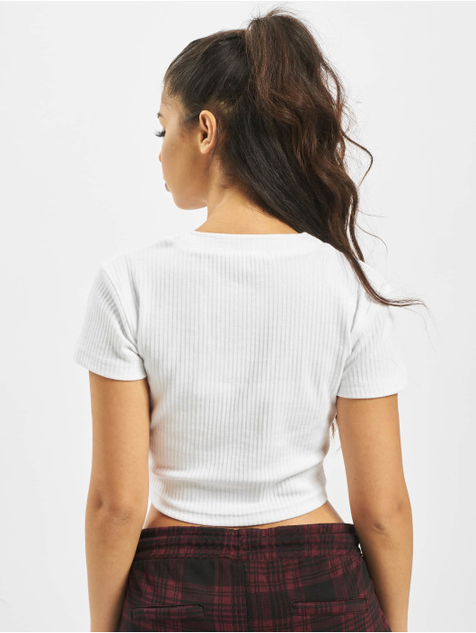 Missguided Tops Horn Button bialy
