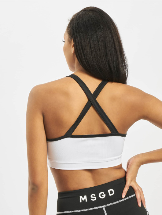 Missguided Tops Panelled Sport Crop bialy
