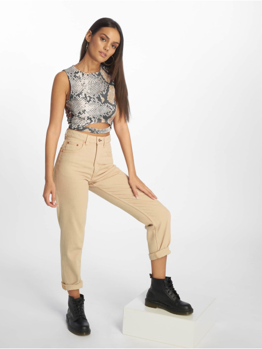 Missguided Tops Snake brazowy