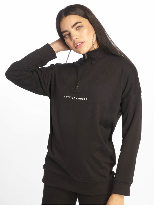 Missguided Tops City Of Angels Zip Over Sized czarny