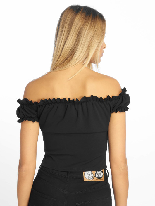Missguided Tops Milkmaid Tie czarny