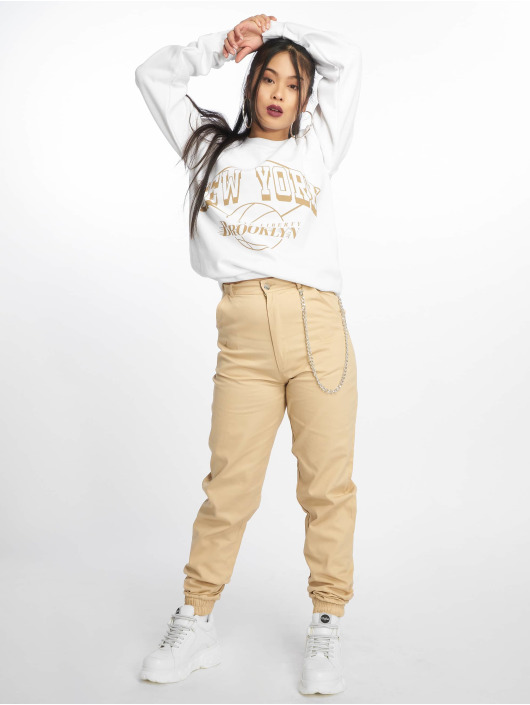 Missguided Trøjer New York Brooklyn Graphic hvid