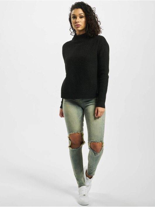 Missguided Trøjer Tall Cut Out Crew Neck sort