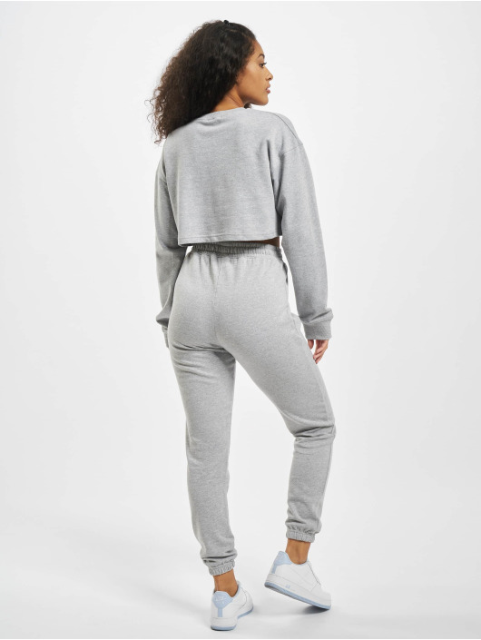 Missguided Trainingspak Crop grijs