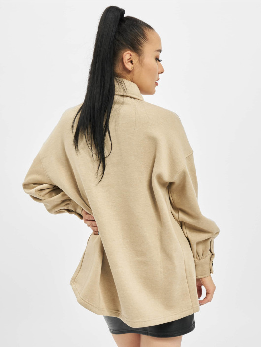 Missguided Transitional Jackets Petite Soft Shacket beige