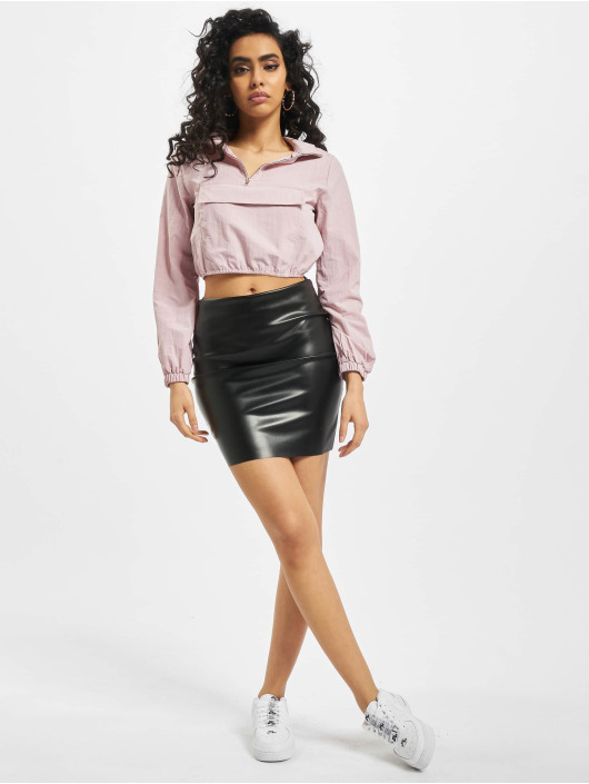 Missguided Transitional Jackets Shell Front Pocket Crop lilla