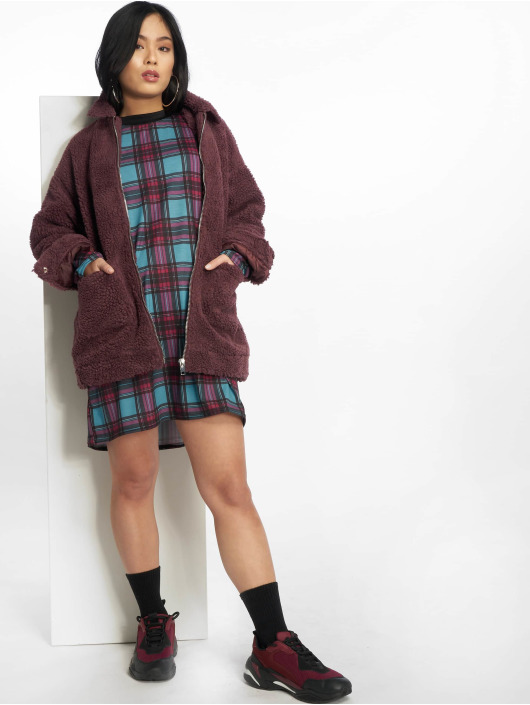 Missguided Transitional Jackets Oversized Borg red