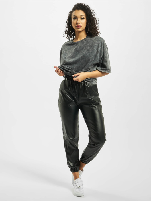 Missguided Tričká Petite Drop Shoulder Oversized šedá
