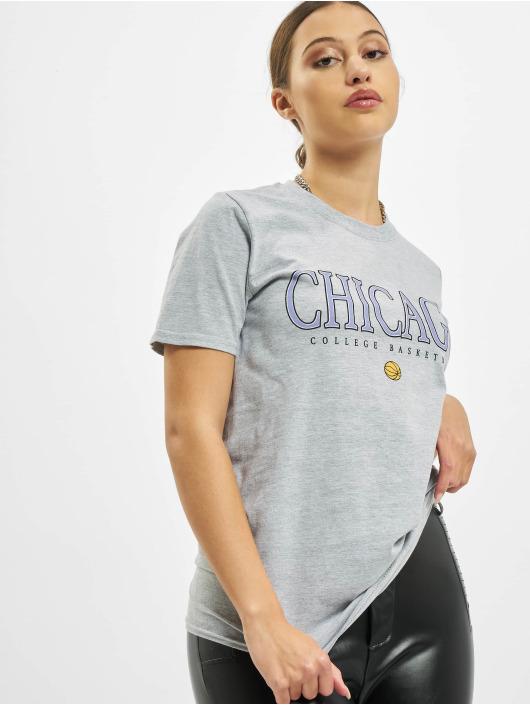 Missguided Tričká Chicago Basketball Graphic Short Sleeve šedá