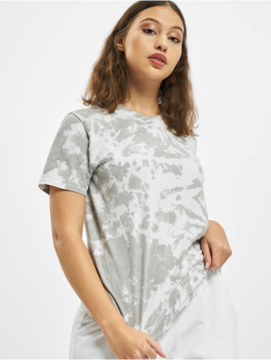 Missguided Trika Tie Dye Socialite Earth Graphic Short Sleeve šedá